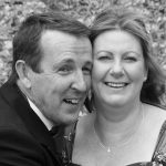 Tracy AFTER Make- Up on the Wedding day with her lovely Hubby Barry!
