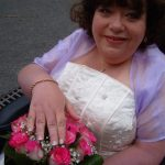 Ruth Wedding Gel Nails in Soft pink and Bright white